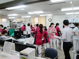 長津田厚生総合病院 看護部ナースステーション(本館3階)