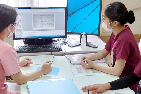 長津田厚生総合病院 看護部 2021年度 新しい仲間 研修風景